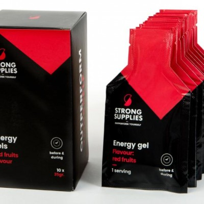 Strong Supplies energy gel red fruit